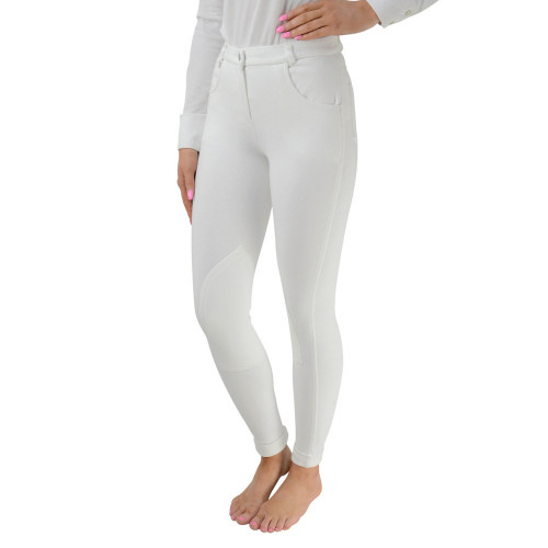 HyPERFORMANCE Melton Ladies Jodhpurs - White - 24''