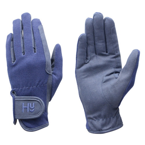 Hy5 Every Day Riding Gloves in navy in medium