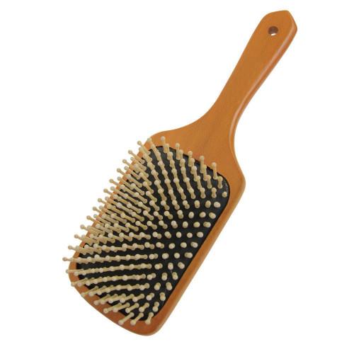 HySHINE Luxury Wooden Mane & Tail Brush in Tan