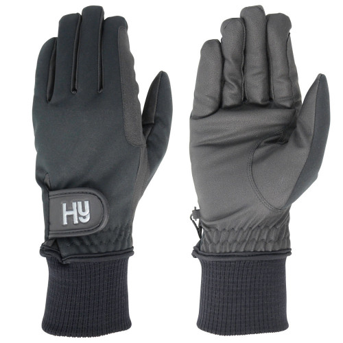 Hy5 Ultra Warm Softshell Gloves in Black in extra small