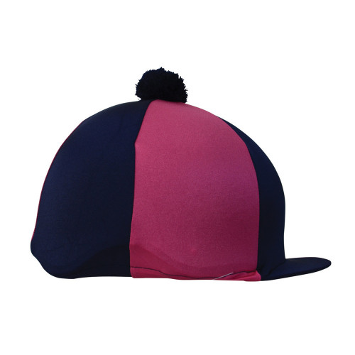Hy Two Tone Lycra Silks with Bobble - Navy/Pink