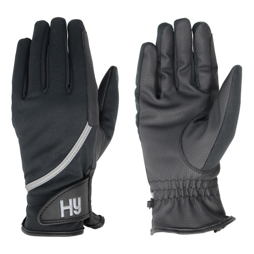 Hy5 Softshell Riding Gloves in Black in extra small