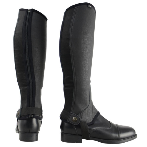 HyLAND Synthetic Combi Leather Chaps in Black size extra small