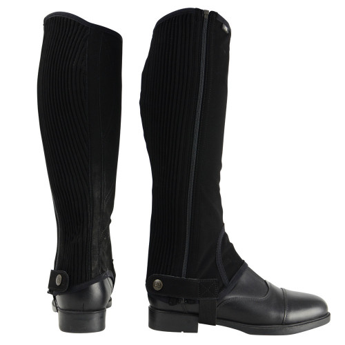 HyLAND Children's Synthetic Nubuck Chaps in Black Child small
