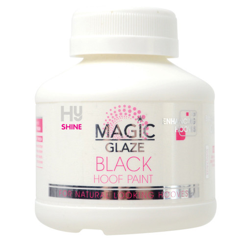 HySHINE Magic Glaze Hoof Paint in Black in 250ml