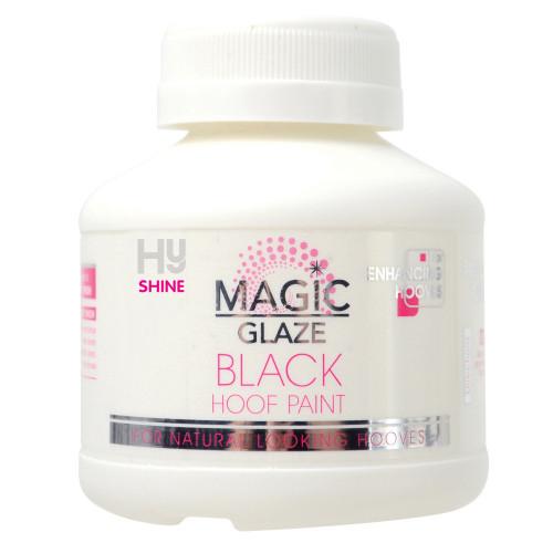HySHINE Magic Glaze Hoof Paint in Black in 250ml