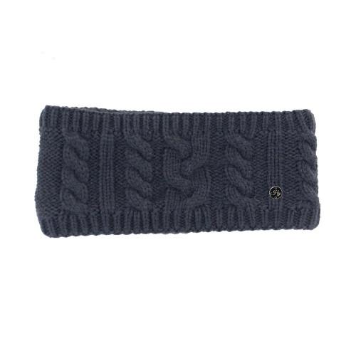 HyFASHION Meribel Cable Knit Headband - Navy - 24 x 10cm