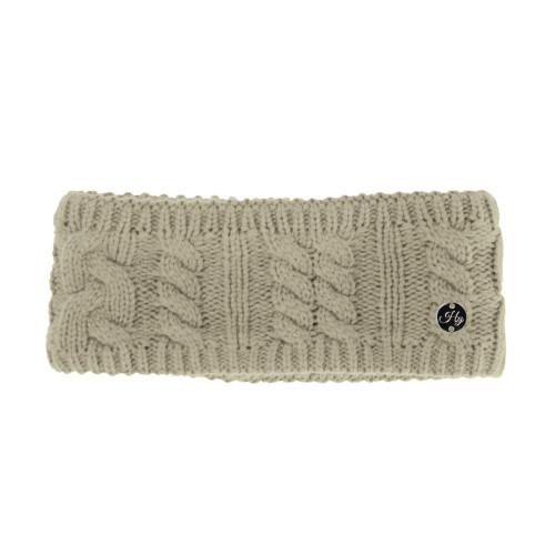 HyFASHION Meribel Cable Knit Headband - Oatmeal - 24 x 10cm