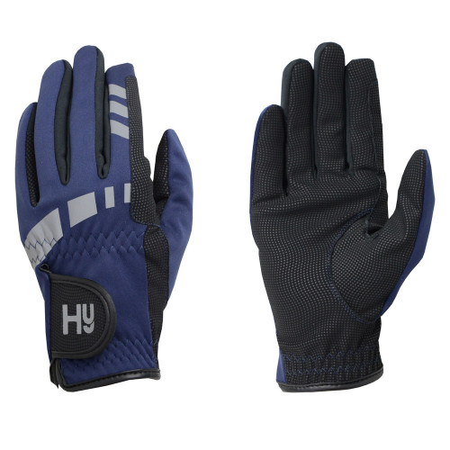 Hy5 Extreme Reflective Softshell Gloves in Navy in Child small
