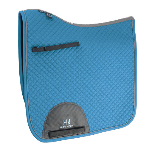 Hy Sport Active Dressage Saddle Pad - Aegean Green - Cob/Full