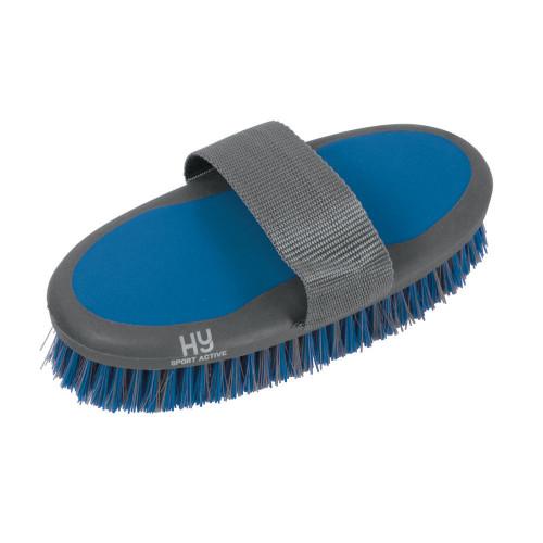 Hy Sport Active Groom Body Brush - Aegean Green - 20 x 9.5cm