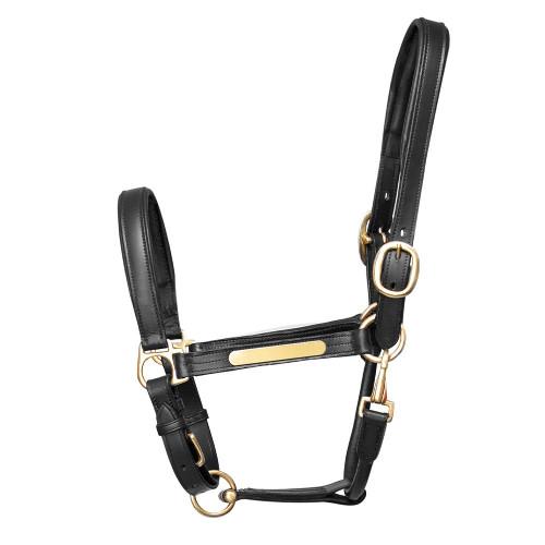 Hy Leather Head Collar - Black - Pony