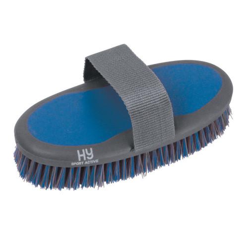 Hy Sport Active Groom Sponge Brush - Aegean Green - 20 x 9.5cm