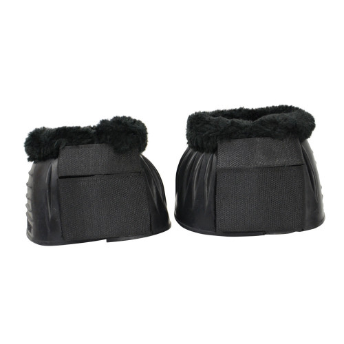 HyIMPACT SnugFit Fleece Topped Over Reach Boots in Black in small