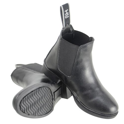HyLAND Beverley Synthetic Combi Leather Jodhpur Boot in Black Childs 1