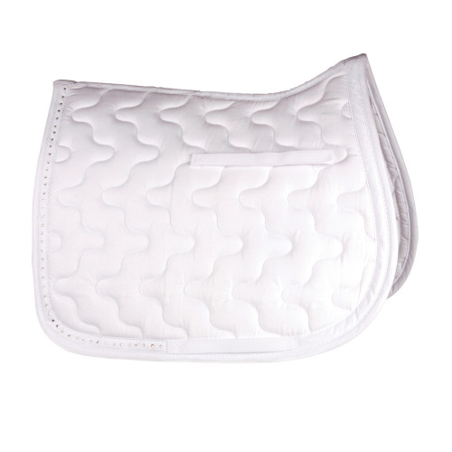 HySPEED Diamante Trim Saddle Cloth in White Pony
