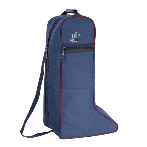 Hy Event Pro Series Boot Bag - Navy/Burgundy - One Size