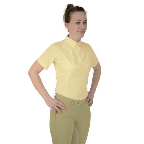 HyFASHION Ladies Tilbury Short Sleeved Tie Shirt - Yellow - X Small