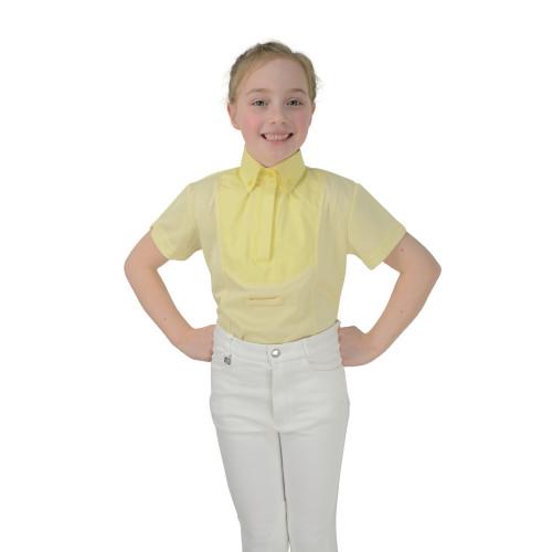 HyFASHION Children's Tilbury Short Sleeved Tie Shirt - Yellow - Medium