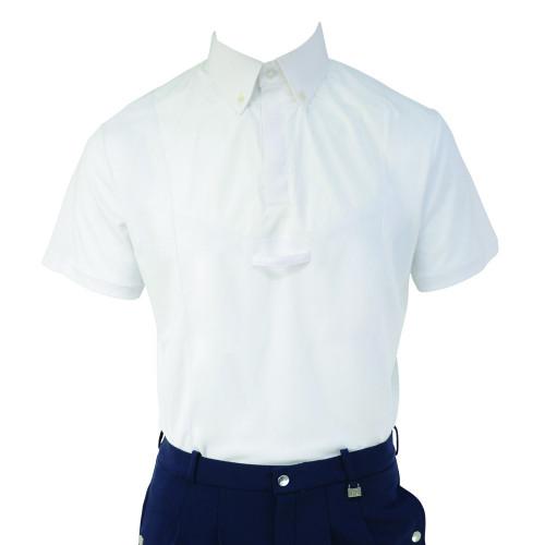 Hy Equestrian Men's Hadleigh Short Sleeved Tie Shirt - White - X Small