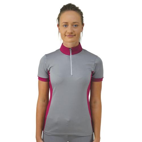 HyFASHION Mizs Arabella Sports Shirt - Pink/Dolphin Grey - 13-14 years