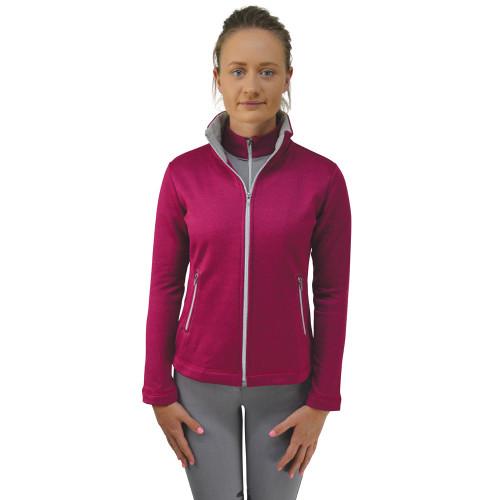 HyFASHION Mizs Arabella Full Zip Fleece - Pink/Dolphin Grey - 11-12 years