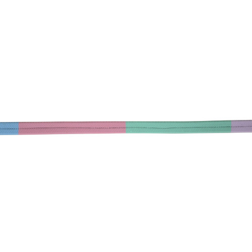 """Hy Rubber Covered Training Reins - Lilac/Ice Mint/Baby Pink/Baby Blue - 48"""" x 4/8"""