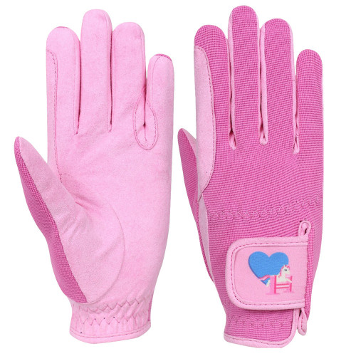 Little Rider Little Show Pony Children's Riding Gloves - Prism Pink/Cameo Pink - Child Small