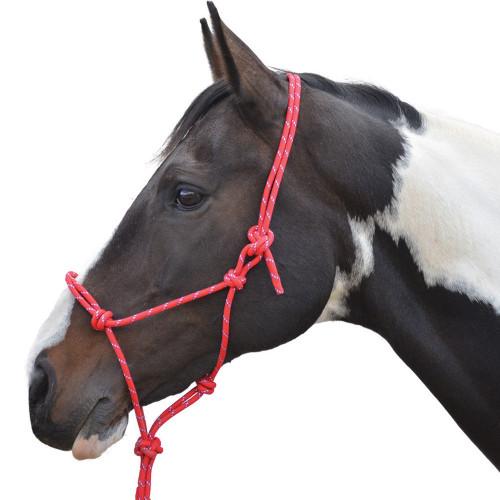 Hy Rope Halter - Red - Cob/Full