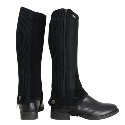 HyLAND Air Mesh Half Chaps in Black in extra small