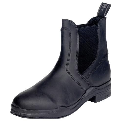 HyLAND Wax Leather Jodhpur Boot in Black Childs 1