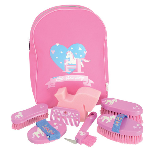 Little Rider Little Show Pony Complete Grooming Kit Rucksack - Cameo Pink - One Size