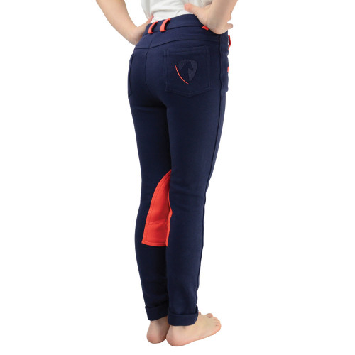 HyPERFORMANCE Belton Children's Jodhpurs - Navy/Red - 18""