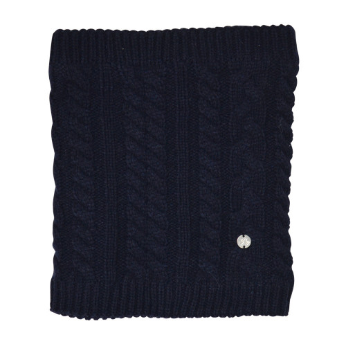 HyFASHION Meribel Cable Knit Snood - Navy - One Size