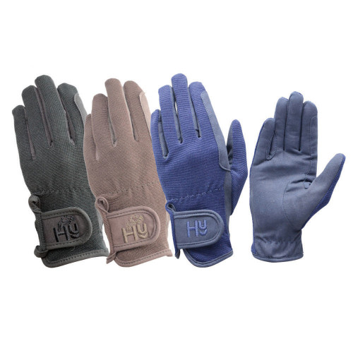 Hy5 Every Day Riding Gloves in Black in extra small
