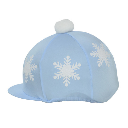 HyFASHION Snowflake with Pom Pom Hat Cover - Light Blue - One Size