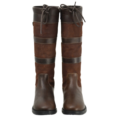 HyLAND Bakewell Long Country Boot size 36 in Dark Brown front view
