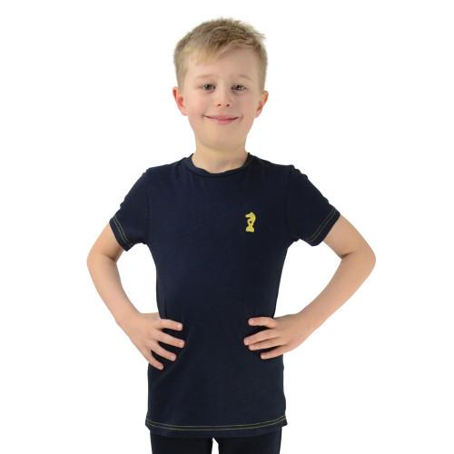 Lancelot T-Shirt by Little Knight - Navy/Yellow - 3-4 Years
