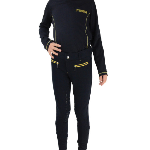 Lancelot Full Silicone Breeches by Little Knight - Navy/Yellow - 3-4 Years