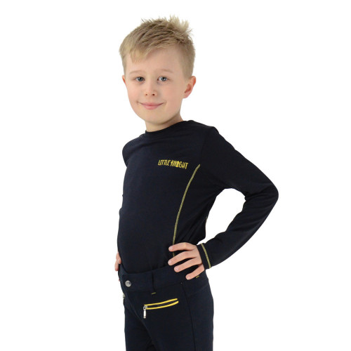 Lancelot Base Layer by Little Knight - Navy/Yellow - 3-4 Years