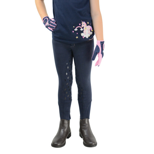 Little Unicorn Breeches by Little Rider - Navy/Candy Pink - 3-4 Years