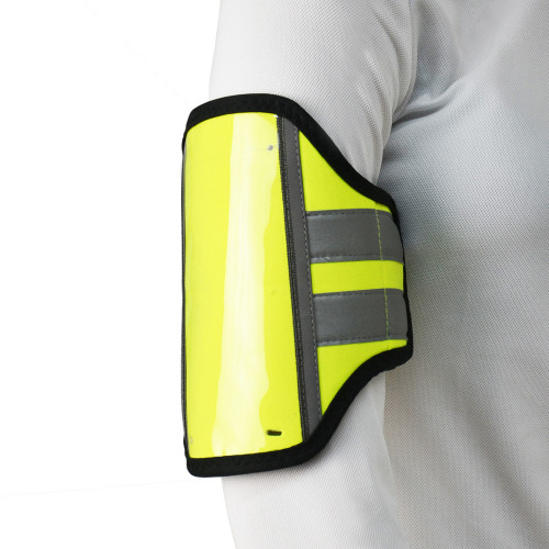 Front/Side View Reflector Phone & Key Holder by Hy Equestrian - Yellow in One Size