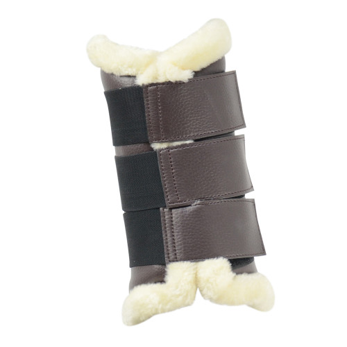 HyIMPACT Combi Leather Brushing Boots in Brown in Large outside