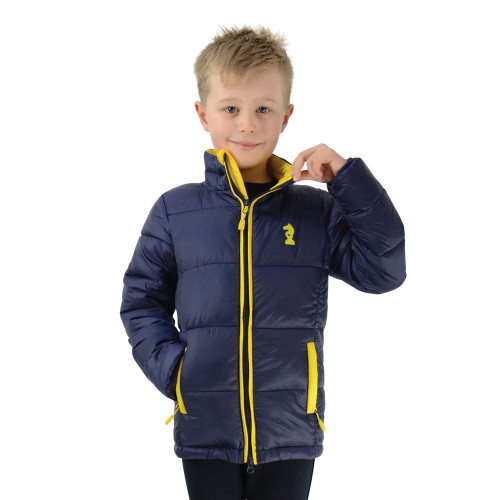 Lancelot Padded Jacket by Little Knight - Navy/Yellow - 3-4 Years