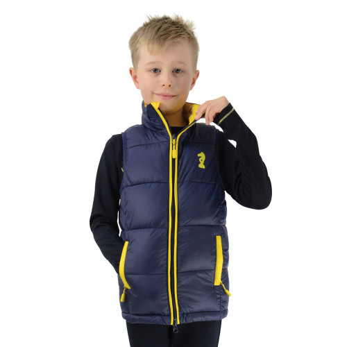 Lancelot Padded Gilet by Little Knight - Navy/Yellow - 3-4 Years