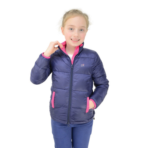 Annabelle Padded Jacket By Little Rider - Navy/Pink - 5-6 Years