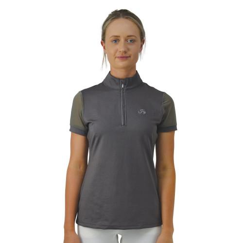 HyFASHION Maddie Mesh Sleeved Show Shirt - Grey - X Small