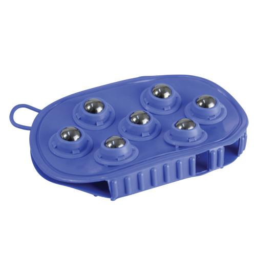 HySHINE Rubber Massage Mitt in Blue balls