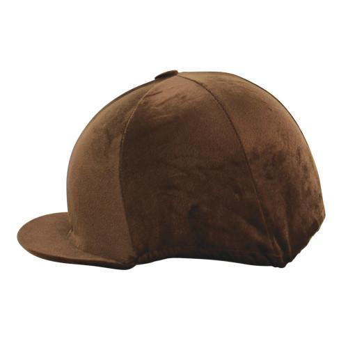 HyFASHION Velour Soft Velvet Hat Cover - Brown - One Size