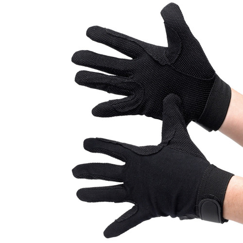 Hy5 Cotton Pimple Palm Gloves in Black in extra extra small